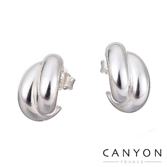 【CANYON】經典雙C銀耳環