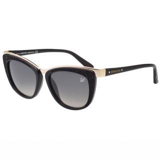 【SWAROVSKI】時尚廣告款 太陽眼鏡(黑色)