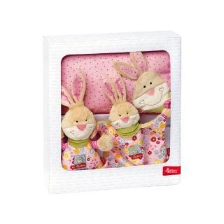 【德國Sigikid】跳跳兔-嬰兒彌月送禮(音樂鈴+安撫巾+枕頭禮盒)