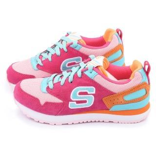【SKECHERS】大童 輕量記憶型運動鞋(84200LHPMT-桃粉)