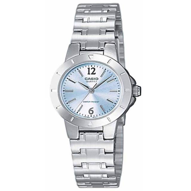 【CASIO 卡西歐】精緻小巧指針女錶-藍(LTP-1177A-2ADF)