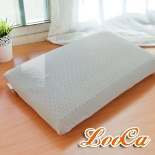 【送枕套x2】LooCa加強護頸基本型乳膠枕(2入-速達)