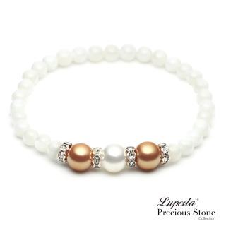 【大東山珠寶】氣質金珠貝晶鑽手鍊