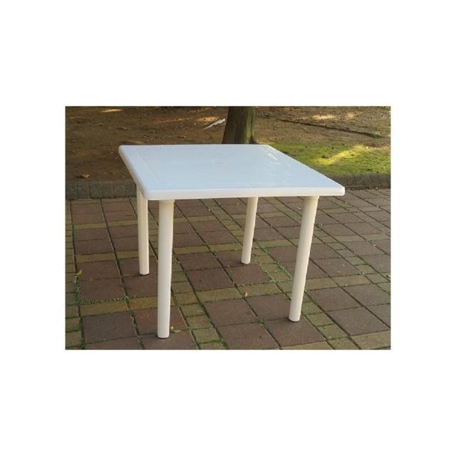 【BROTHER 兄弟牌】90cm白色塑膠方桌(BROTHER 兄弟牌)