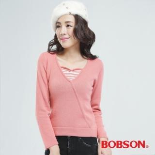 【BOBSON】毛衣(粉紅65114-27)