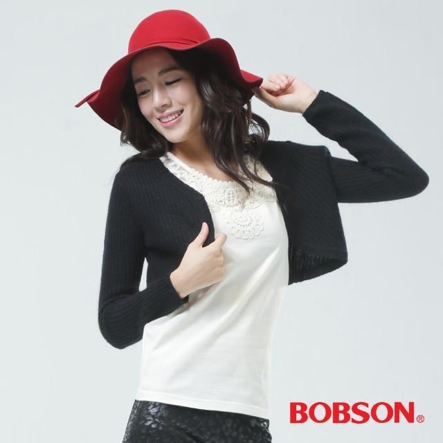 【BOBSON】毛衣外套(黑色65121-88)