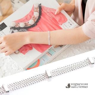 【維克維娜】氣質時尚 多鍊寬版純銀手鍊