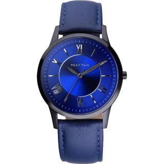 【RELAX TIME】RT58 經典學院風格腕錶-藍(RT-58-10L)