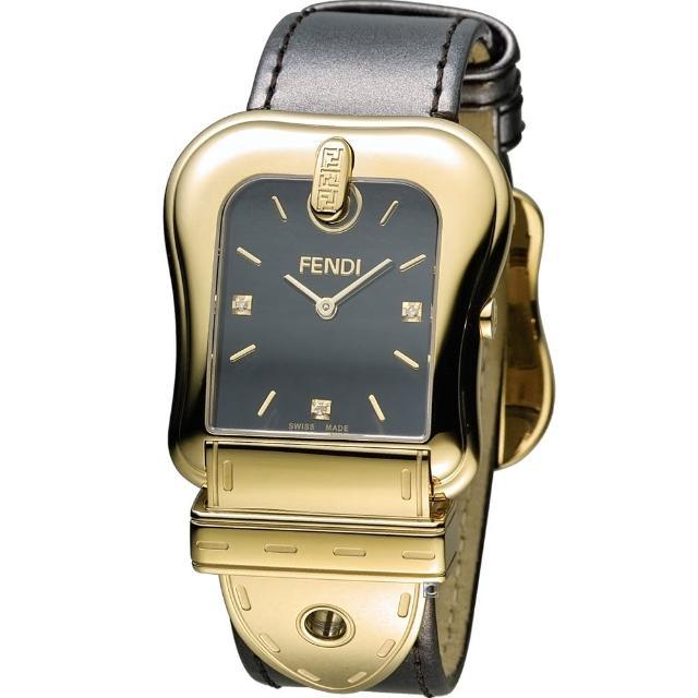 【芬迪 FENDI】B.Fendi 完美時尚腕錶(F380411021D1 黑x金)