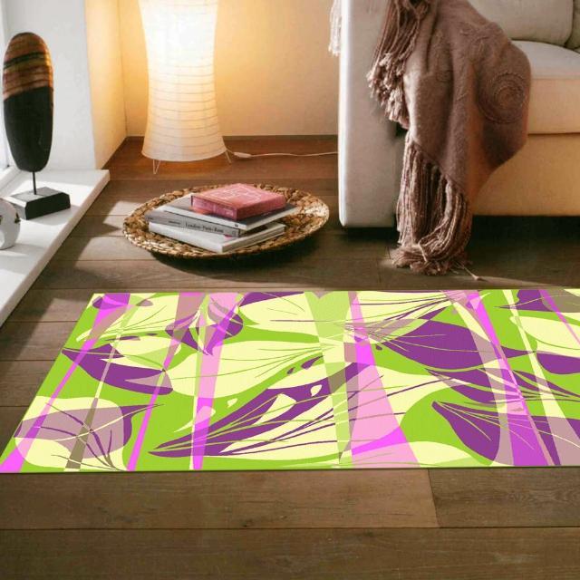 【范登伯格】奧斯汀光澤絲質感地毯-葉燦(70x120cm)