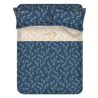 ~Arnold Palmer雨傘牌~浮草之詩~60紗精梳棉床包被套雙人四件組