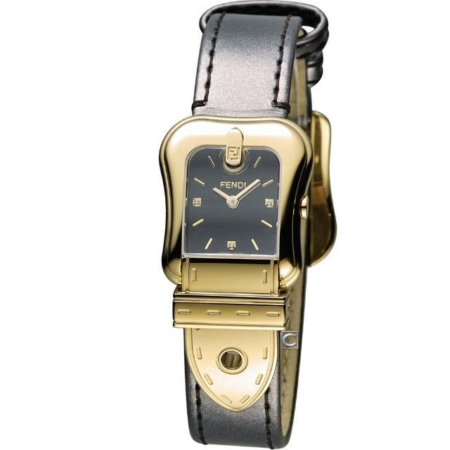 【芬迪】芬迪 FENDI B.Fendi 完美時尚腕錶(F380421021D1 黑x金)
