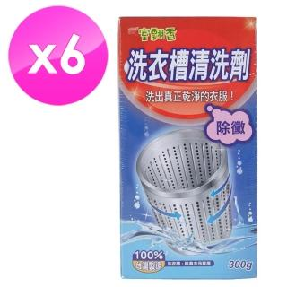 【室翲香】洗衣槽清洗劑300g*6入組(除霉、抗菌)