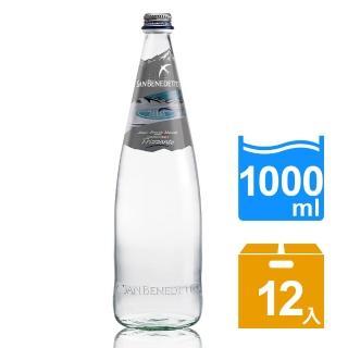 【San Benedetto】聖碧濤天然氣泡礦泉水1公升(玻璃瓶 x12入)
