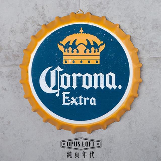 【OPUS LOFT純真年代】仿舊啤酒瓶蓋壁飾 立體牆飾鐵皮畫 居酒屋美式餐廳酒吧牆面裝飾掛畫(BC09 可樂娜)