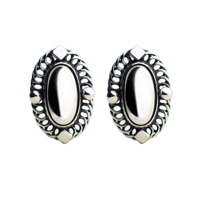 【Georg Jensen】2004年度夾式耳環「銀石款」