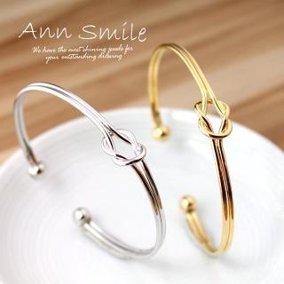 【微笑安安】韓製繩結造型易戴手環‧2色