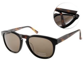 【Calvin Klein太陽眼鏡】經典百搭偏光款眼鏡(黑-琥珀#CA7905SP 001)