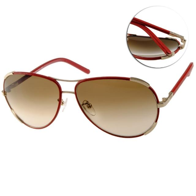 【CHLOE太陽眼鏡】法式經典飛官款(紅-金#CL100SL 721)