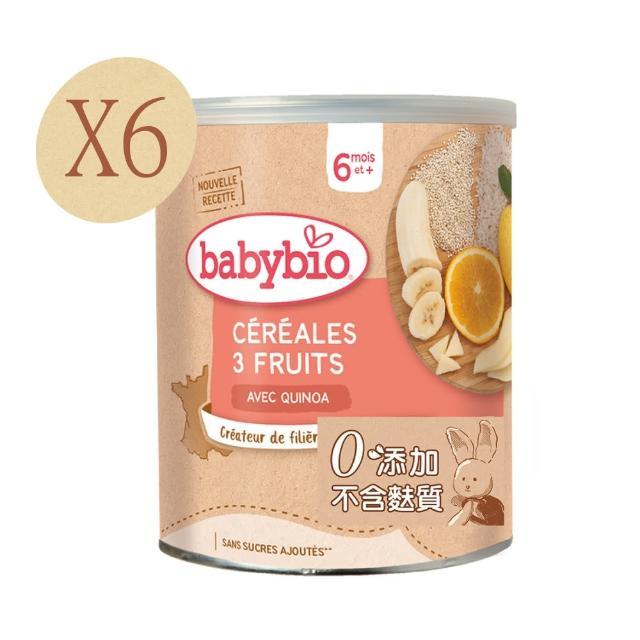 【法国BABYBIO】有机宝宝米精(水果220gx6)