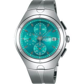 【WIRED】太空復刻初代計時碼錶-藍綠/41mm(7T92-X272B AF8U23X1)