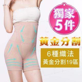 【JS嚴選】抗溢肉腰夾式美臀平口褲(L超值五 件)