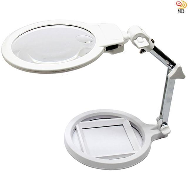 【月陽】125mm鏡面超白光LED放大鏡閱讀檯燈(MG3B-1A)