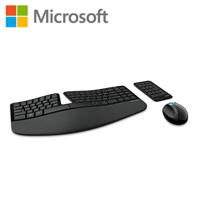 【微軟】Sculpt人體工學鍵鼠組/ 黑色(L5V-00025)