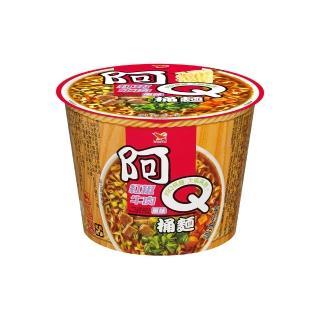 【阿Q桶麵】紅椒牛肉風味桶12入/箱(享受嗆辣的口味)