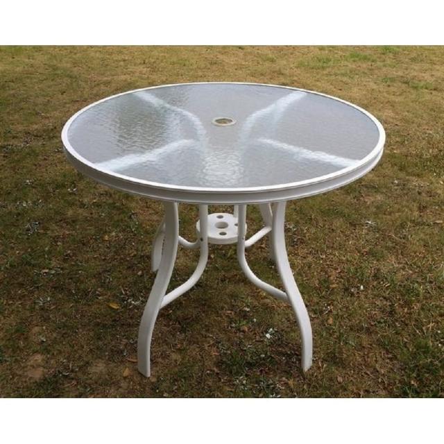 【BROTHER 兄弟牌】90cm鋁製庭院桌-白色(BROTHER 兄弟牌)