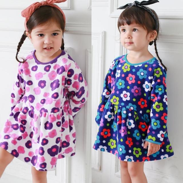 【baby童衣】大小童洋裝 細刷毛韓版小花短裙 50688(共2色)