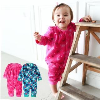 【baby童衣】寶寶連身服 滿版搖粒絨前開爬服 50692(共2色)