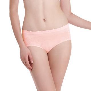 【LADY】超彈力親膚無痕系列 中腰低衩三角褲(粉色)
