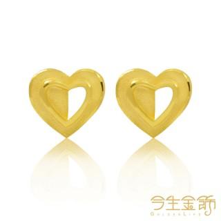 【今生金飾】心情耳環(純金時尚耳環)