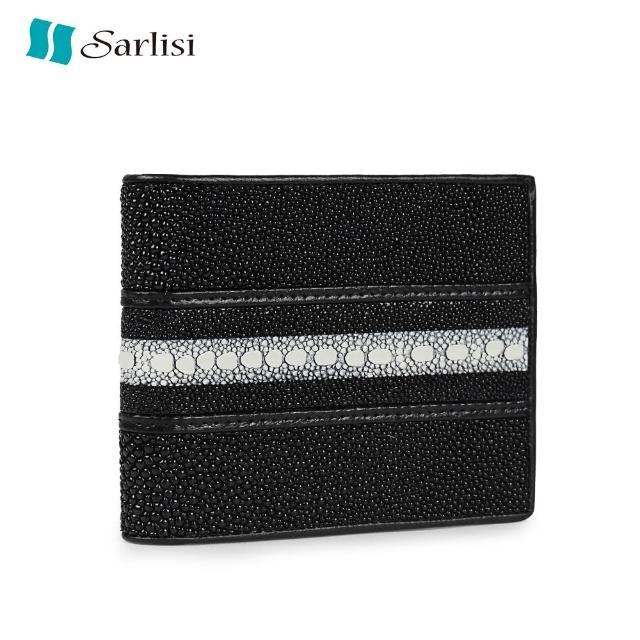【Sarlisi】【歷史最低價 買到賺到】沉穩經典真皮魚王珍珠魚皮皮夾短夾(原價3680現價3080)