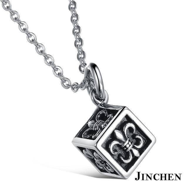 【JINCHEN】316L鈦鋼項鍊單條價TAC-914(方塊骰子項鍊/中性款式/復古百搭)