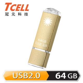【TCELL冠元】USB2.0 64GB 國旗碟隨身碟(香檳金限定版)