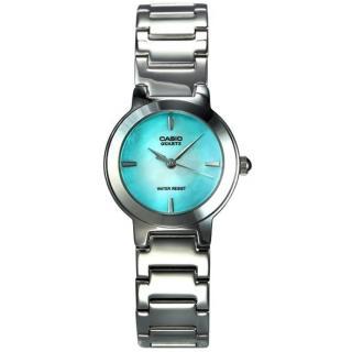 【CASIO 卡西歐】閃耀珍珠貝指針女錶(LTP-1191A-3CDF)