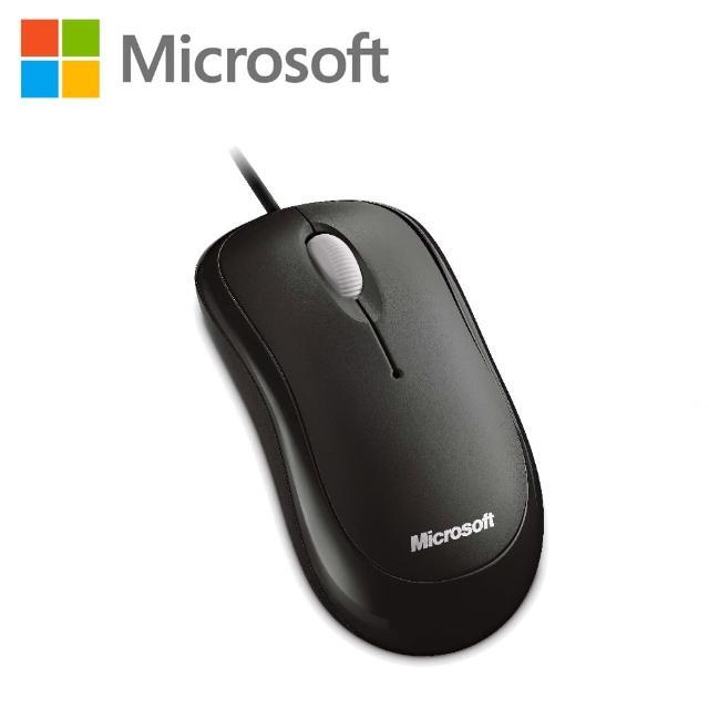 【綠蔭-免運】微軟 入門USB光學鯊 - 黑 盒裝 (P58-00065)