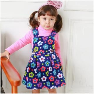【baby童衣】女童吊帶裙 細刷毛繽紛印花洋裝 50687(共2色)