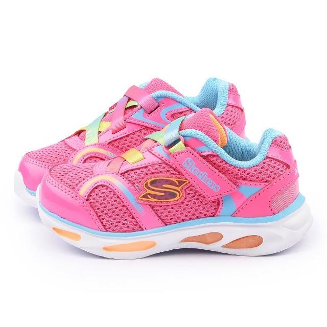 【SKECHERS】小童 電燈運動鞋(10504NPKMT-粉)