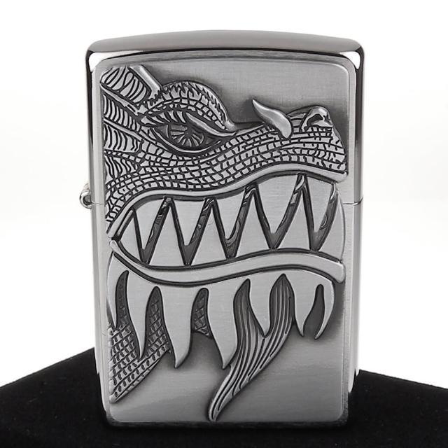 【ZIPPO】美系-Fire Breathing Dragon-噴火龍圖案貼飾