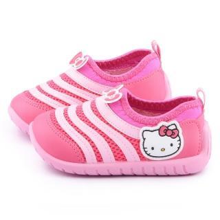【三麗鷗】Hello kitty 中小童 透氣毛毛蟲休閒鞋(715114-桃紅)