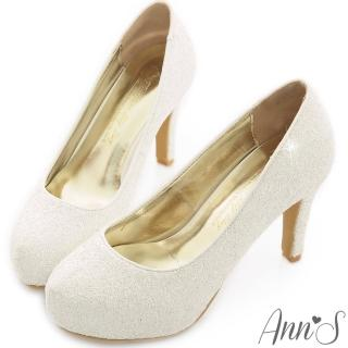 【Ann'S】Bridal幸福婚鞋閃耀單鑽厚底跟鞋(白)
