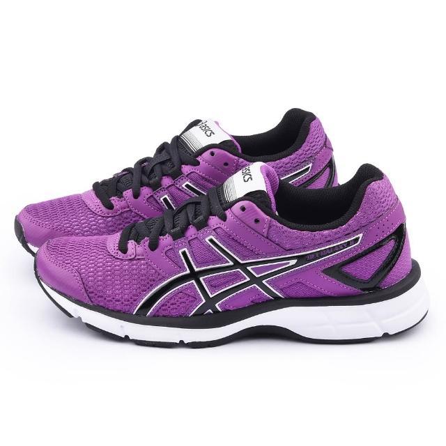 【Asics】女款GEL-GALAXY 8輕量慢跑鞋(T575N-3690-紫)