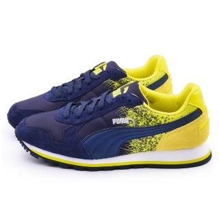 【PUMA】男款ST Runner FR 輕量運動鞋(359356-03-藍黃)
