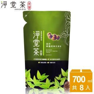 【茶寶 淨覺茶】茶籽碗盤蔬果洗潔液補充包(8入)