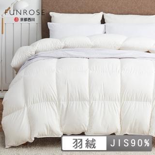 【京都西川】日本製 北緯90羽絨冬被/被胎/羽絨被(雙人 6X7尺)