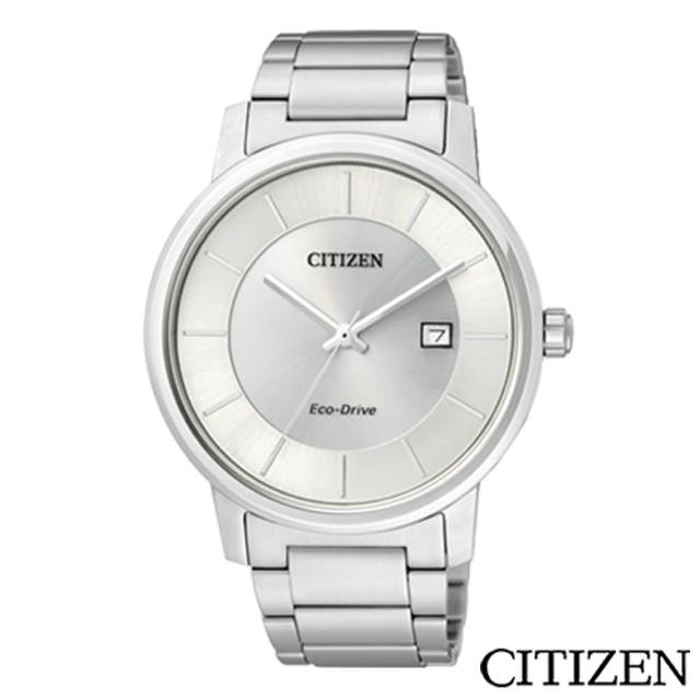 【CITIZEN星辰】經典簡約光動能腕錶-銀白(BM6750-59A)