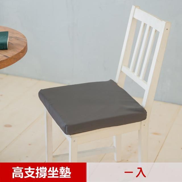 【凱蕾絲帝】台灣製造 久坐專用二合一高支撐記憶聚合紓壓坐墊(1入)